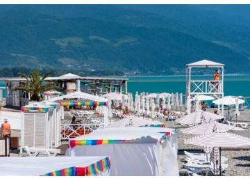 Собственный пляж|  Отель «Gamma Sirius »| Cочи, Адлер, Имеретинский курорт- Олимпийский парк